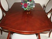 Beautiful Dining Room Set with 2 piece Hutch for sale 8
