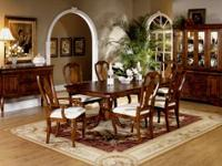 Dining room set with a two pedestal table and twin