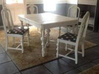 Stunning depression era table. Table is repainted