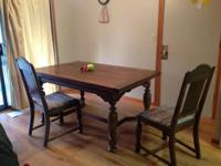 Beautiful formal dining room table.This table has 6
