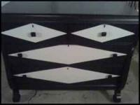 I have a BEAUTIFUL black and white antique dresser. It