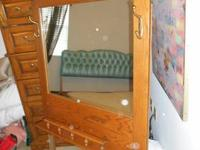 Mirror w/ Hooks was made to go on a Dresser, Beautiful