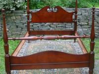 Beautiful quality vintage full size mahogany bed by
