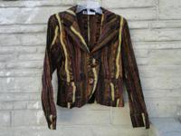 "Beautiful earthtone ""striped"" jacket, made in Italy."
