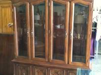 ** BEAUTIFUL, ELEGANT CHINA CABINET **. THIS ONE IS An