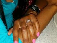 Lovely Engagement / Wedding Ring set up for sale. Total