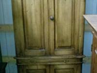 Beautiful Antique English Pine Corner Cupboard imported