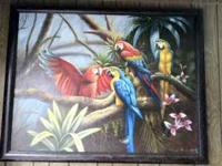 Beautiful Exotic Bird Painting from the Dominican