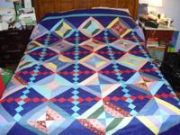 Gorgeous Eye of God quilt is made from the pattern
