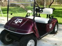 I HAVE A BEAUTIFUL EZ-GO TEXAS AGGIE GOLF CART FOR