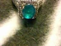 925Silver,Blue Topaz,Diamonds....They have this ring ON