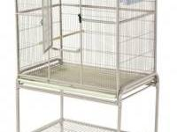 This white flight cage gives your small to medium sized