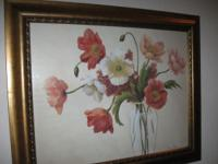 "Floral Picture Frame 34"" x 28"" only $25.00 Call Ada at"