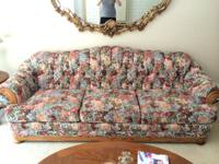 Lovely floral sofa will make a nice addition to any