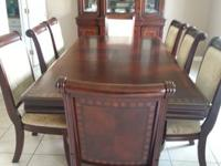 Beautiful formal dining set from for sale. Set includes