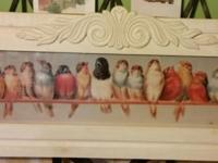 I have a beautifully framed lg picture of birds on a