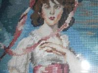 "BEAUTIFUL EXCEPTIONAL NEEDLEPOINT WORK OF ""PINKIE"" AND"