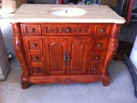 *** 1 year old solid wood furniture base vanity and