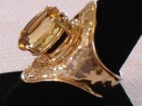 Description Stunning Citrine Gemstone Ring  Beautiful