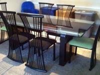 Glass-Top Dining Table & (6) Chairs - $950  (Approx