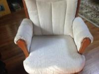 We're scaling back, so we're selling our glider rocker,