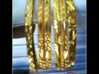 BEAUTIFUL GOLD PLATED BANGLE 22K AND 24K.HEAVEY GOLD