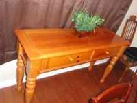 Beautiful solid wood hall table/ console . W/ two