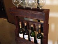 Beautiful hand crafted wine rack. Designed from