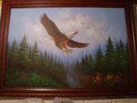 For Sale Beautiful Hand Painted American Eagle Flying