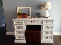 My wife and I breathed life into this pedestal desk. It
