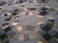 King size quilt made for use as a comforter, includes
