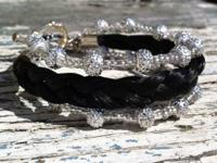 One of a kind equine hair bracelets made from your very