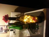 I am selling this Beautiful Wine Bottle Light I made