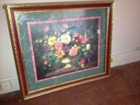$35 Firm. beautiful home interior framed & matted