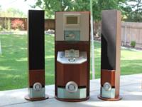 A beautiful wooden home stereo system for sale. Comes