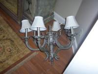 This is a gorgeous chandelier. Heavy iron. Has the