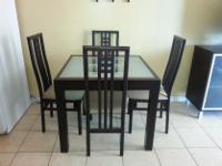 Type:Dining RoomType:SetsBeautiful 4 chair espresso