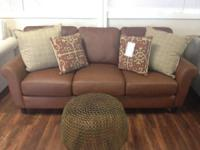 Beautiful Italian Leather Sofa! Very Comfortable-Not