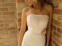 Beautiful ivory strapless gown, size 2-4, has custom
