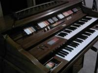 beautiful kimball organ/piano w/ all the bells and