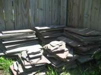 Beautiful blue and red landscape/patio slate for sale.