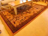 "Excellent condition, stylish area rug, 5'5"" X 7'10""."