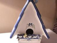 Beautiful large birdhouse from Mud Pie. These