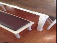 Moving and require gone. Gorgeous table with two chairs