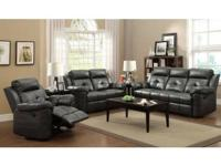 Gorgeous Leather Reclining Sofa, Love Seat & Chair !!!