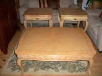 Here is a Beautiful Like New Large Wood Coffee Table