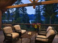 Whitefish Lake views are prominent from the great room,