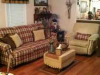 Livingroom suite for sale couch, chair, ottaman 3