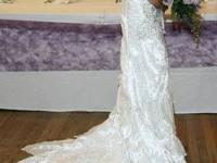 Gorgeous customized made Mermaid Wedding Gown for sale.