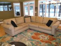 Beautiful Microfiber Corner Sectional Sofa - Like new